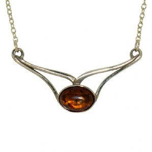 Necklace Bronze and Amber